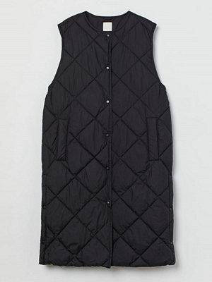 H&M Quiltad väst svart
