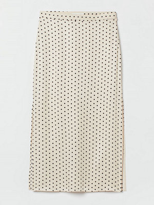 H&M Satinkjol med slitsar beige