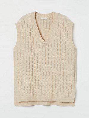 H&M Kabelstickad slipover beige