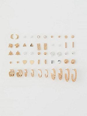 H&M 25 par örhängen guld