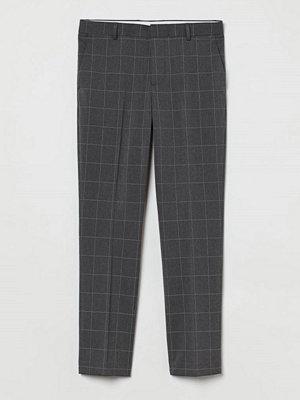 H&M Kostymbyxa Slim Fit grå