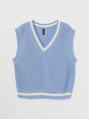 H&M Stickad slipover blå