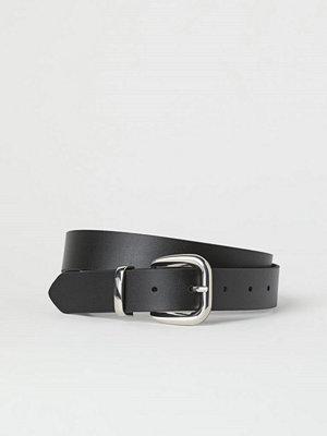 H&M Skärp i läder svart