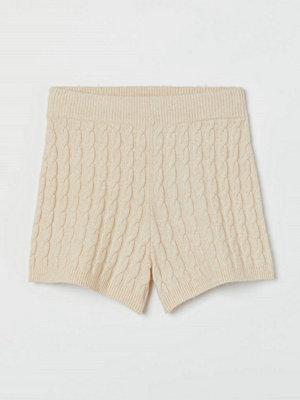 H&M Kabelstickade shorts beige