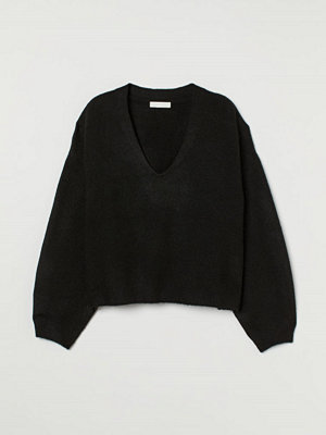 H&M Stickad tröja svart