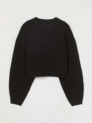 H&M Ribbstickad tröja svart