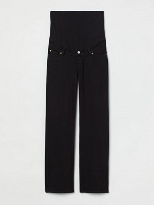 H&M MAMA Wide High Jeans svart