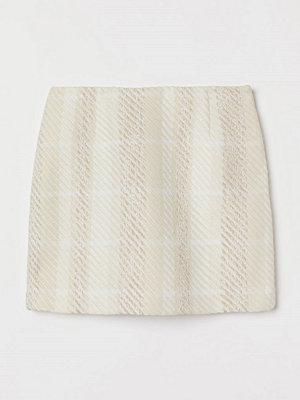 H&M Strukturvävd kjol beige