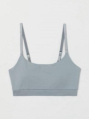 H&M Sport-bh Medium support grå
