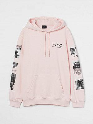 H&M Huvtröja Regular Fit rosa