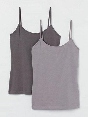 H&M 2-pack trikålinne grå