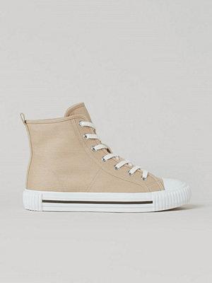 H&M Höga twillsneakers beige