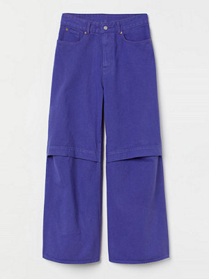 H&M Oversized cut out-jeans purple