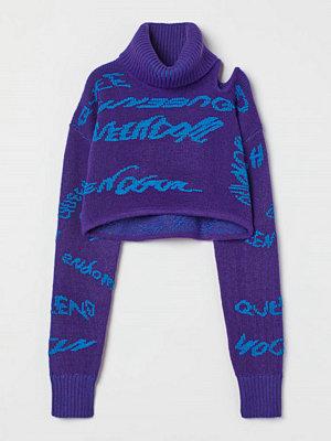 H&M Croppad polotröja purple
