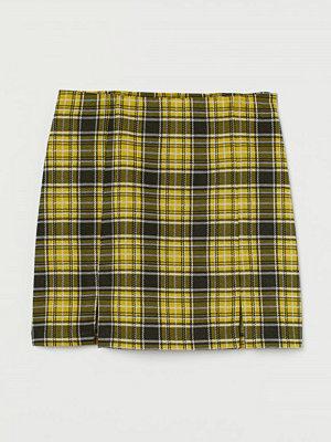 H&M Kort kjol gul