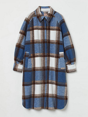 H&M H & M+ Oversized kappa blå