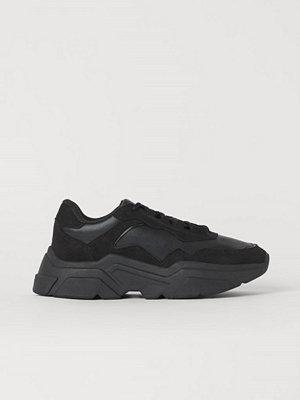 H&M Chunky sneakers svart