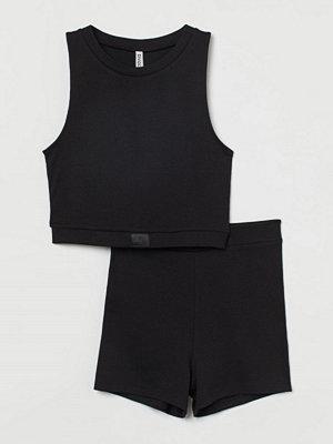 Linnen - H&M Ribbad pyjamas svart