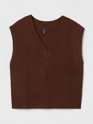H&M Stickad slipover brun