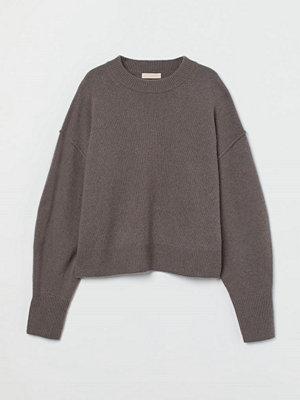 H&M Stickad tröja i kashmir beige