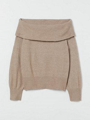 H&M Off shoulder-tröja brun