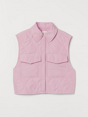 Linnen - H&M Quiltad väst rosa