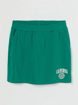 H&M Sweatshirtkjol med tryck grön