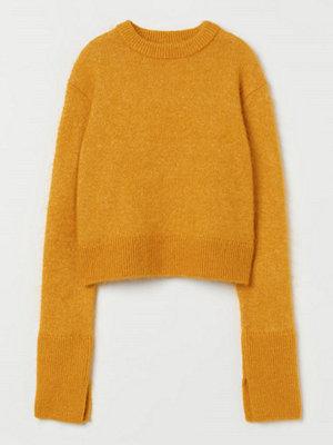 H&M Stickad tröja i mohairmix gul