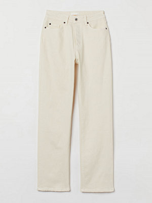 H&M Straight High Jeans vit