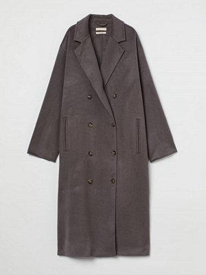 H&M Dubbelknäppt kappa i ull beige