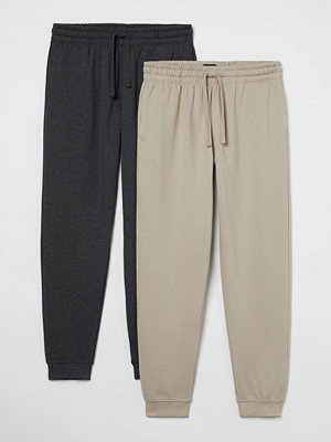 H&M 2-pack joggers Regular Fit brun