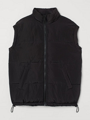 H&M H & M+ Vadderad väst svart