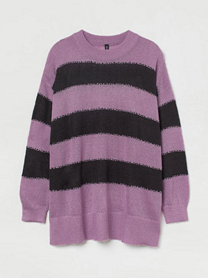 H&M H & M+ Stickad tröja lila