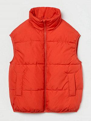H&M Vadderad väst orange