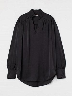 H&M Vid satinblus svart