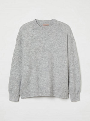 H&M H & M+ Stickad tröja grå