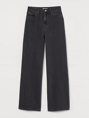 H&M Wide High Jeans grå