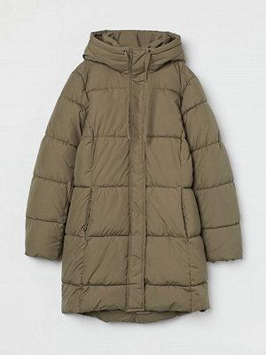 H&M Vadderad kappa med huva grön