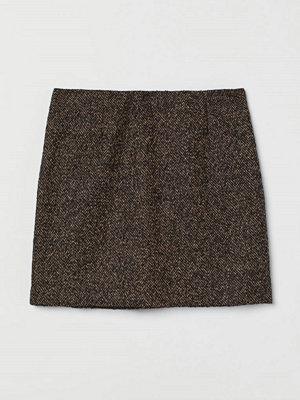 H&M Strukturvävd kjol brun