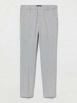 H&M Croppade slacks Skinny Fit grå