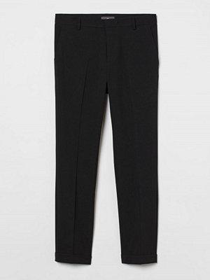 H&M Croppade slacks Skinny Fit svart