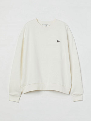 H&M Relaxed crew neck sweatshirt vit