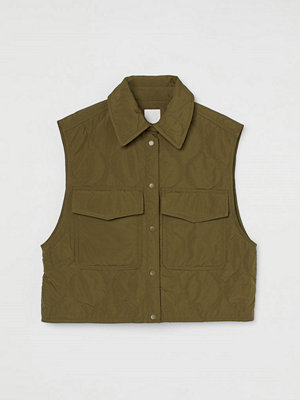 H&M Quiltad väst grön