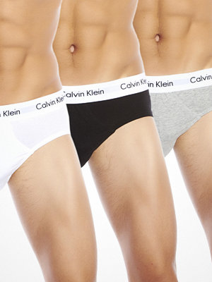 Calvin Klein 3-pack Hip Brief Black Grey White