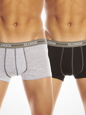 Sloggi 2-pack Start Midi Boxer Black/Grey