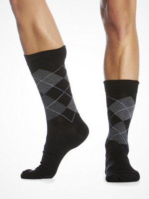 Topeco Argyle Sock Black-2