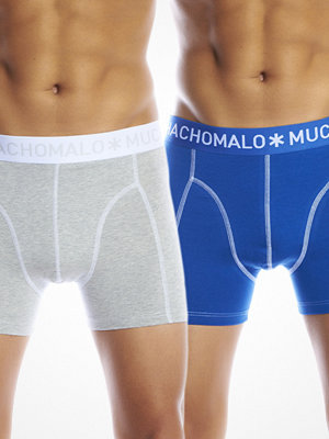 Muchachomalo 2-pack Solid Boxer Grey/Blue