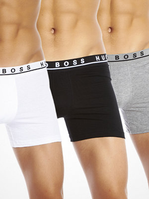 Hugo Boss 3-pack Cotton Stretch Cyclist Boxer Black White Grey