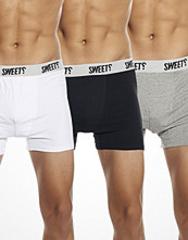 Sweet 3-pack High Times Boxer Grey/White/Black