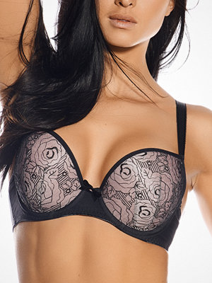 Freya Deco Darling Moulded Plunged Bra Black